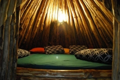 Sleepingplace in tepee