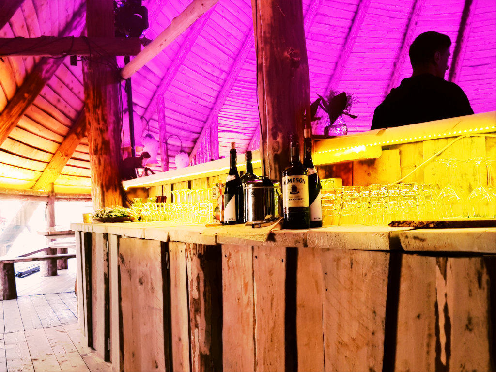 A bar in Large Tepee