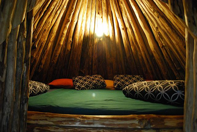 Sleepingplace in tepee