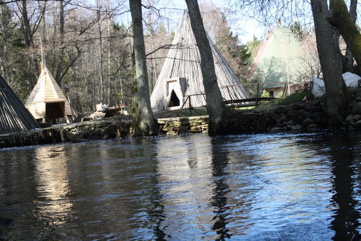 Tepee view from the river