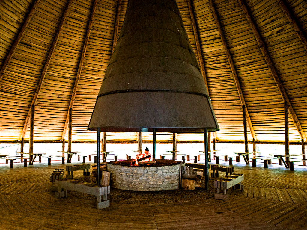 Fireplace in Large Tepee