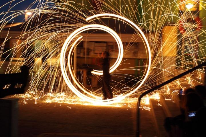 Fire magic at Raudsilla